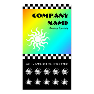 tanning salon checkers loyalty card Double-Sided standard business cards (Pack of 100)