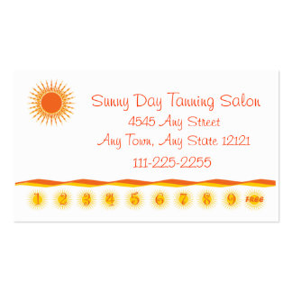 Tanning Salon - Customer Loyalty Punch Card - Business Cards