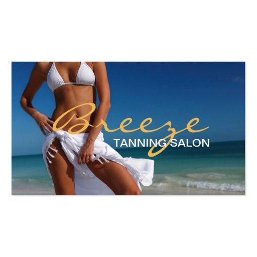 Tanning Salon Spa Business Card