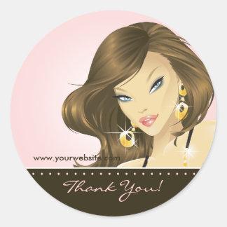 Tanning Salon Sticker Pretty Woman Pink
