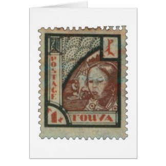 Tannu Tuva 1 Girl and Cow Stamp Card