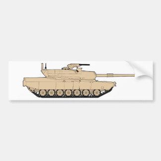 Tanque de batalla principal de M1A1 Abrams Etiqueta De Parachoque