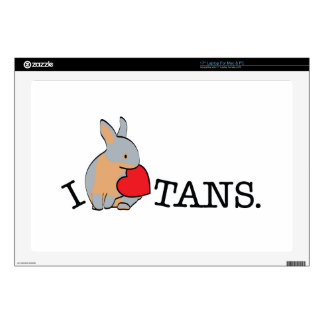 "TANS! - BLUE 17"" LAPTOP DECAL"