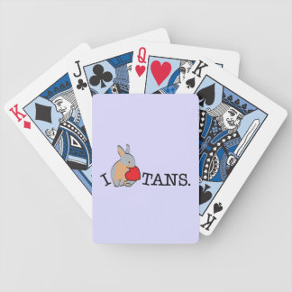 TANS - BLUE BICYCLE PLAYING CARDS