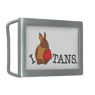 TANS! - CHOCOLATE RECTANGULAR BELT BUCKLES