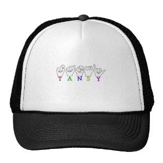 TANSY  ASL FINGERSPELLED NAME SIGN TRUCKER HAT
