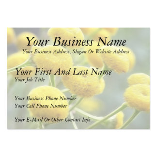 Tansy Flowers Large Business Cards (Pack Of 100)