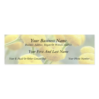 Tansy Flowers Double-Sided Mini Business Cards (Pack Of 20)