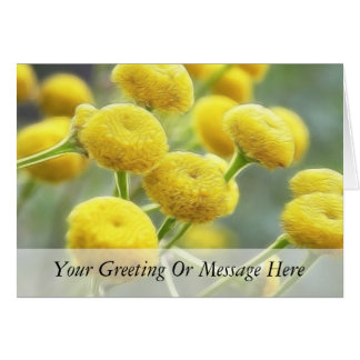 Tansy Flowers Greeting Card