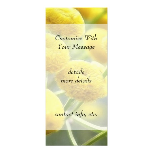 Tansy Flowers Rack Card Design