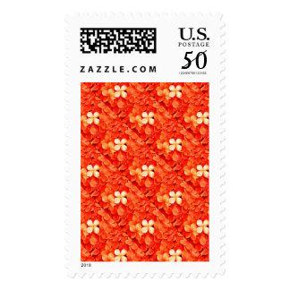 Tantalizing Tangerine Orange Blossoms Floral Postage