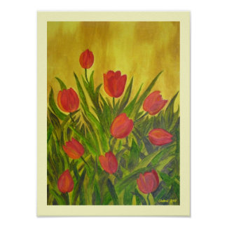Tantalizing Tulips ! Poster