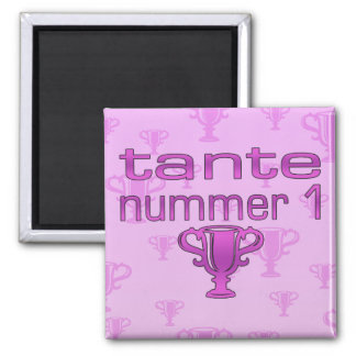 Tante Nummer 1 2 Inch Square Magnet