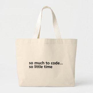 Tanto al código… bolsa de tela grande