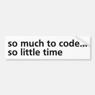 Tanto al código… etiqueta de parachoque