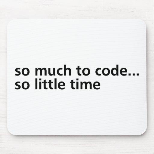 Tanto al código… tapetes de raton