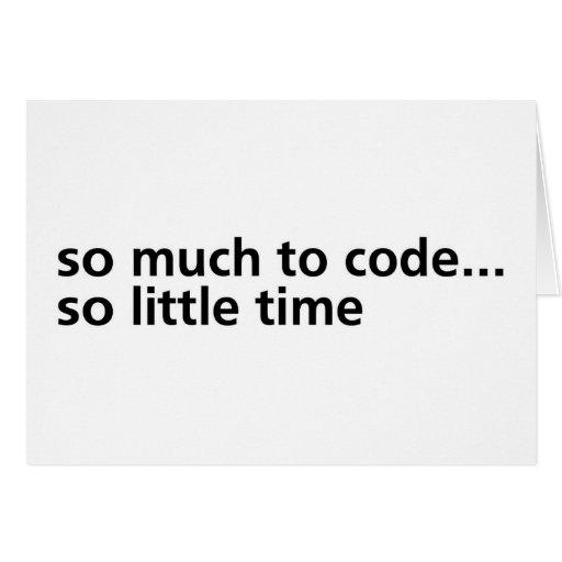 Tanto al código… tarjeta de felicitación