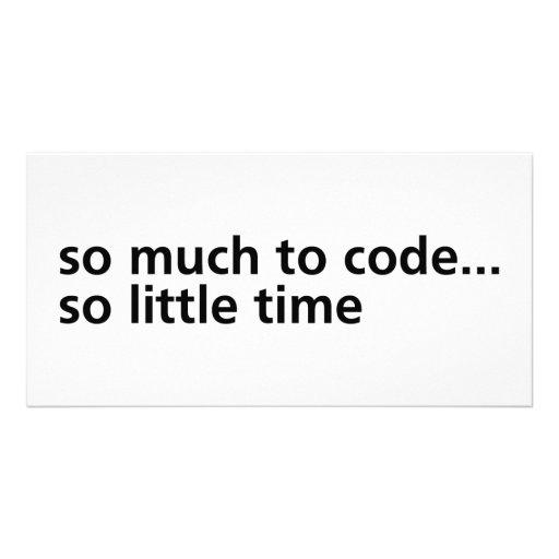 Tanto al código… tarjeta personal con foto