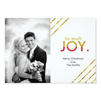 """Tanto ALEGRÍA. tarjeta de la foto del día de Invitación 5"""" X 7"""""""