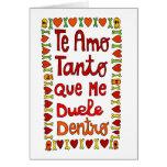 Tanto de Te amo Tarjeta Pequeña