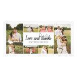 Tanto el collage el | del amor le agradece tarjeta plantilla para tarjeta de foto