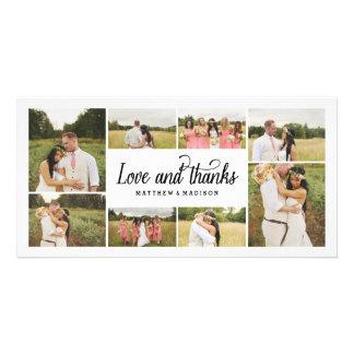Tanto el collage el   del amor le agradece tarjeta tarjetas personales