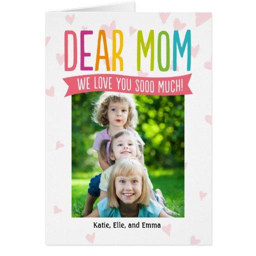 Tanto tarjeta de la foto del día de madres del amo