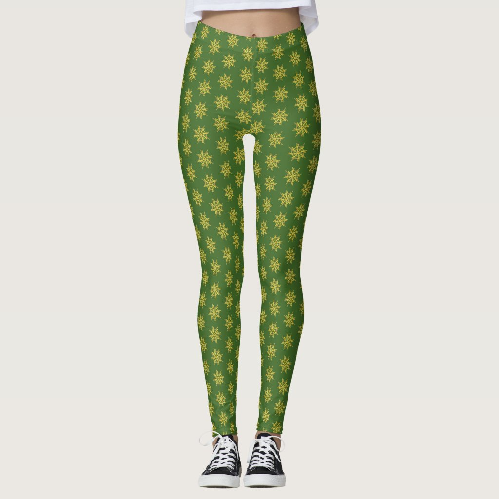 Tantra On Green Spring Equinox Leggings