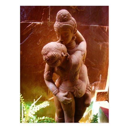 Tantric Sex Statue Spirituality Buddhism Postcard
