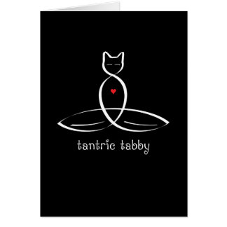 Tantric Tabby - Fancy style text. Card