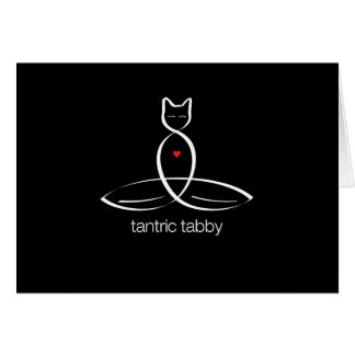 Tantric Tabby - Regular style text. Card