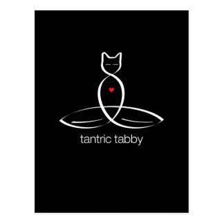 Tantric Tabby - Regular style text. Postcard