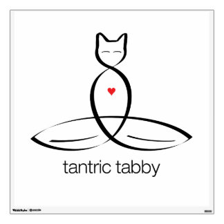 Tantric Tabby - Regular style text Wall Decals