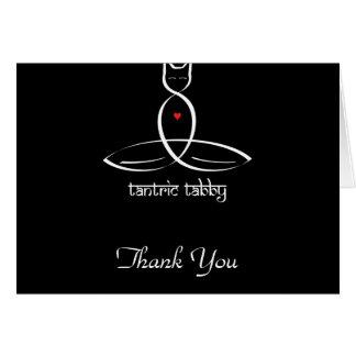 Tantric Tabby - Sanskrit style text. Card