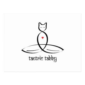 Tantric Tabby - Sanskrit style text. Postcard