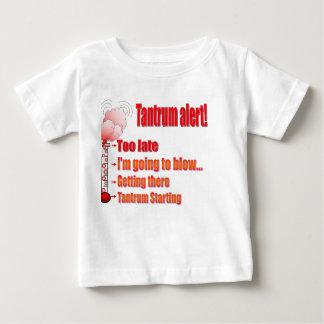 Tantrum alert! baby T-Shirt