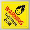 Tantrum Zone Poster
