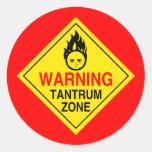 Tantrum Zone Stickers