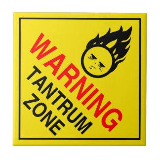 Tantrum Zone Tile