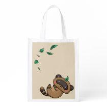Tanuki and Leaves Reusable Grocery Bag
