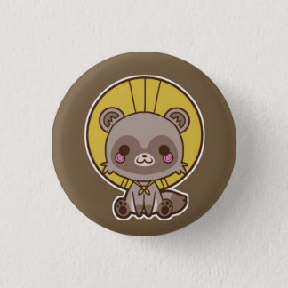 Tanuki (Raccon Dog) Button