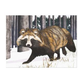 Tanuki - Raccoon Dog Canvas Print