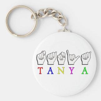 TANYA  ASL FINGERSPELLED NAME SIGN KEYCHAIN