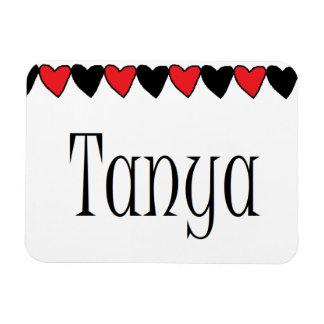 Tanya Hearts Name Magnet