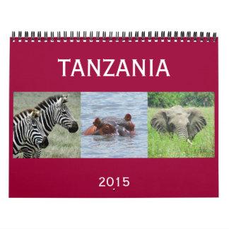 Tanzania 2015 calendarios de pared