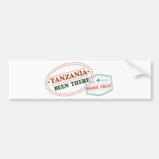 Tanzania Been There Done That Bumper Sticker