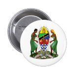 Tanzania coat of arms 2 inch round button