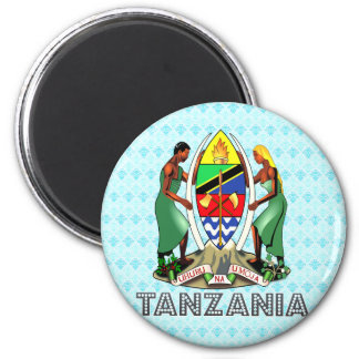 Tanzania Coat of Arms 2 Inch Round Magnet