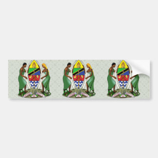 Tanzania Coat of Arms detail Bumper Sticker