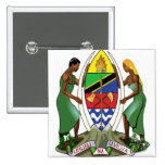 Tanzania Coat of Arms detail Pinback Button